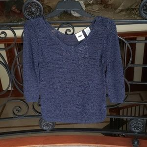 DKNY NAVY BLUE Sweater Size S
